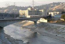 L.A. River with Old City Jail - Photographer: Laurie Avocado